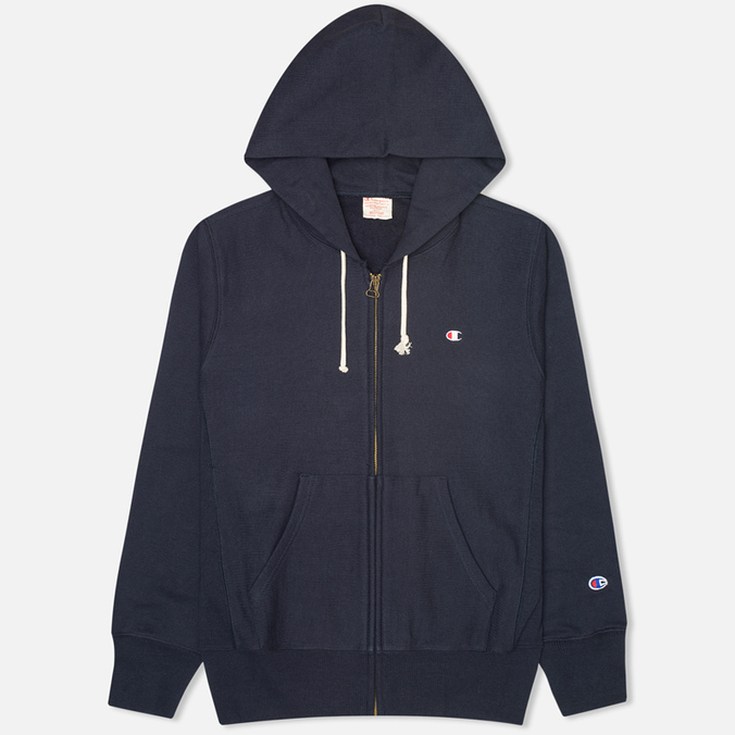 Мужская толстовка Champion Reverse Weave Basic Zip Navy