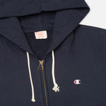 Мужская толстовка Champion Reverse Weave Basic Zip Navy фото- 1