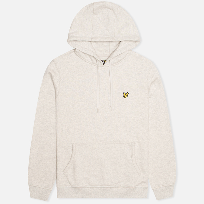 Мужская толстовка Lyle & Scott Logo Fleece Light Grey Marl