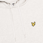 Мужская толстовка Lyle & Scott Logo Fleece Light Grey Marl фото- 2