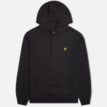 Мужская толстовка Lyle & Scott Logo Fleece True Black фото- 0