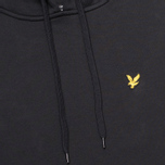 Мужская толстовка Lyle & Scott Logo Fleece True Black фото- 2