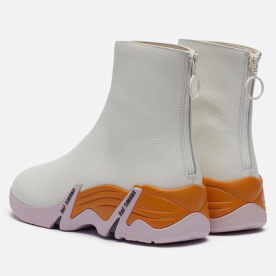 Кроссовки Raf Simons (RUNNER) Cylon Leather White/Dark Orange/Pink
