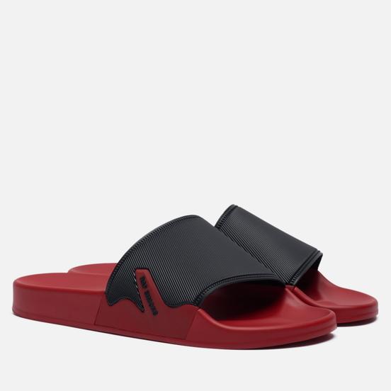Мужские сланцы Raf Simons (RUNNER) Astra Black/Red