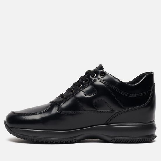 Мужские кроссовки Hogan Interactive Shine Leather Black