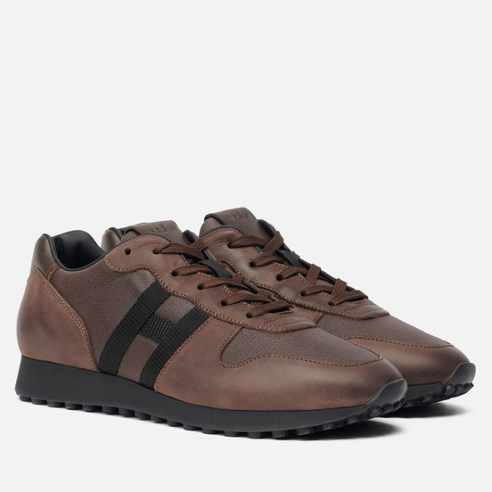 Мужские кроссовки Hogan H383 Grosgrain H Brown