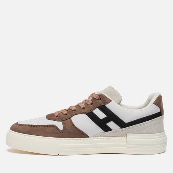 Мужские кроссовки Hogan Rebel Nubuck Cream White/Brown/Black