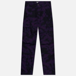 Мужские брюки Carhartt WIP Regular Cargo 6.5 Oz Camo Blur/Purple Rinsed