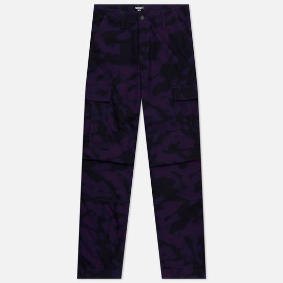 Мужские брюки Carhartt WIP Regular Cargo 6.5 Oz Camo Blur/Purple Rinsed