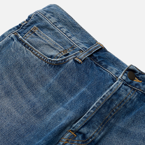 Мужские джинсы Carhartt WIP Klondike 12 Oz Blue Mid Used Wash