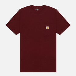 Мужская футболка Carhartt WIP S/S Pocket Bordeaux