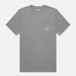 Мужская футболка Carhartt WIP S/S Pocket Dark Grey Heather
