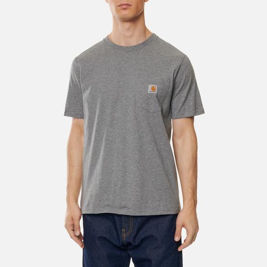 Мужская футболка Carhartt WIP S/S Pocket Dark Grey Heather