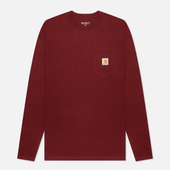 Мужской лонгслив Carhartt WIP L/S Pocket Bordeaux