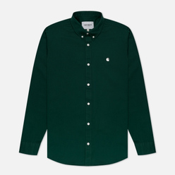 Мужская рубашка Carhartt WIP Madison 6.5 Oz Bottle Green/Wax