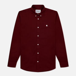 Мужская рубашка Carhartt WIP Madison 6.5 Oz Bordeaux/Wax