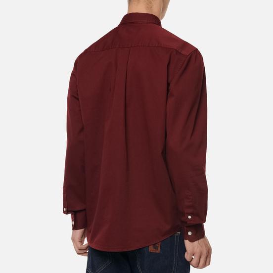 Мужская рубашка Carhartt WIP Madison 6.5 Oz Bordeaux/Wax
