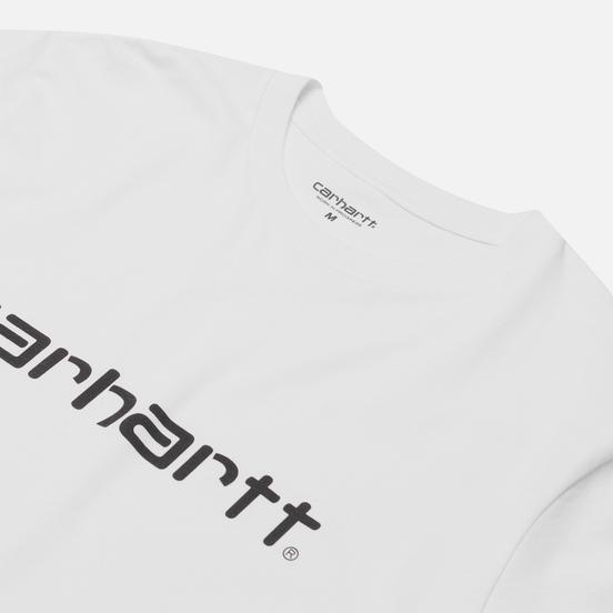 Мужская футболка Carhartt WIP S/S Script White/Black