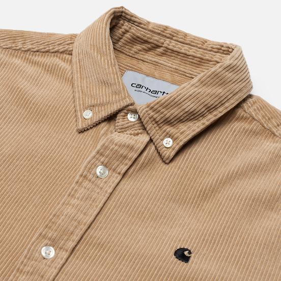 Мужская рубашка Carhartt WIP Madison 9.1 Oz Wall/Black