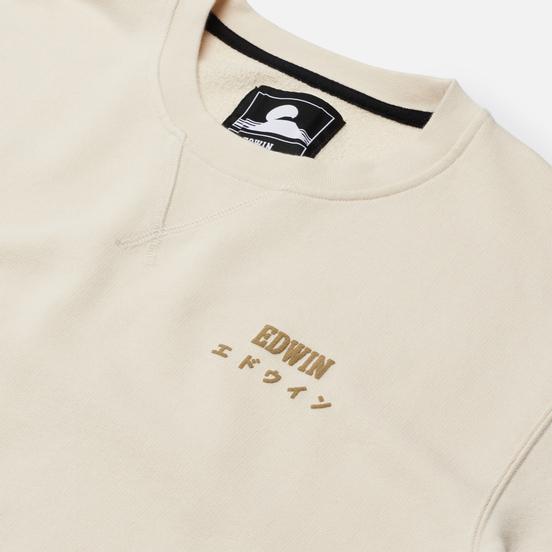 Мужская толстовка Edwin Base Crew Heavy Felpa Whisper White Garment Washed