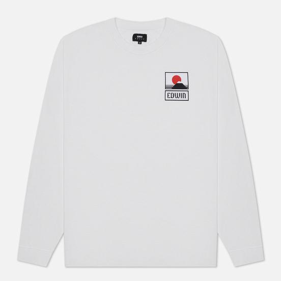 Мужской лонгслив Edwin Sunset On Mount Fuji White Garment Washed