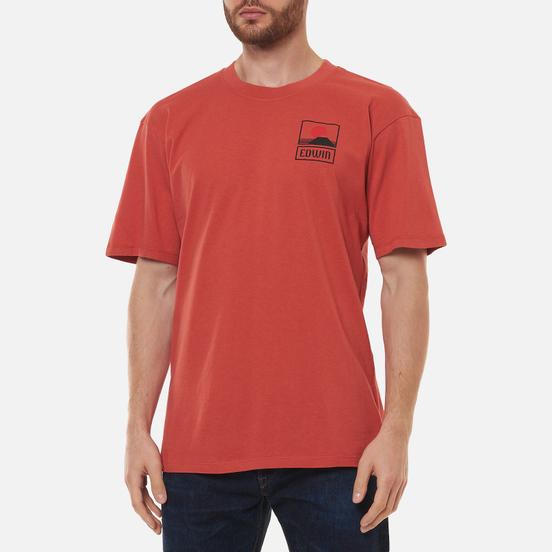 Мужская футболка Edwin Sunset On Mount Fuji Burnished Sunset Garment Washed