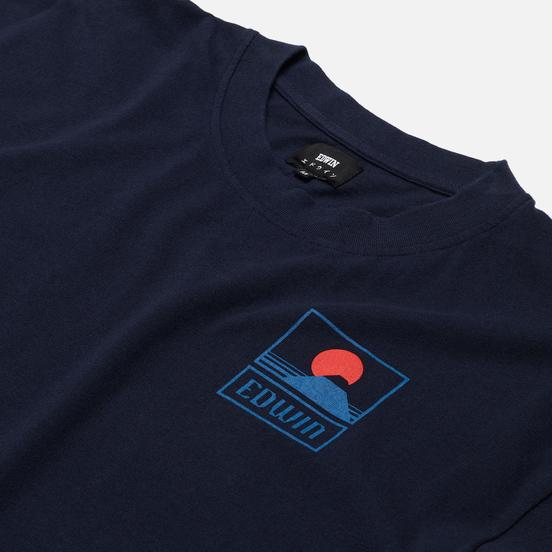 Мужская футболка Edwin Sunset On Mount Fuji Navy Blazer Garment Washed