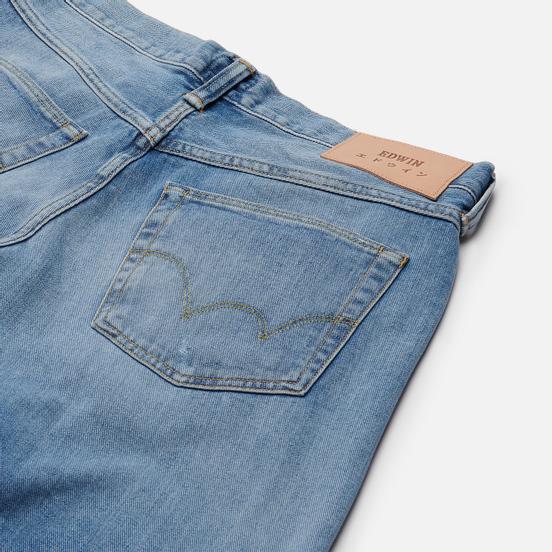 Мужские джинсы Edwin ED-55 Yoshiko Left Hand Denim 12.6 Oz Blue Noboku Wash