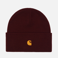 Шапка Carhartt WIP Chase Bordeaux/Gold