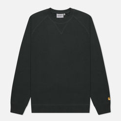 Мужская толстовка Carhartt WIP Chase 13 Oz Dark Teal/Gold