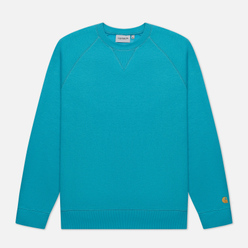Мужская толстовка Carhartt WIP Chase 13 Oz Frosted Turquoise/Gold