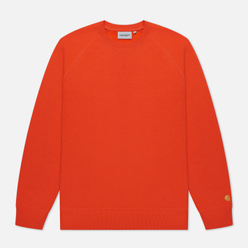 Мужская толстовка Carhartt WIP Chase 13 Oz Safety Orange/Gold