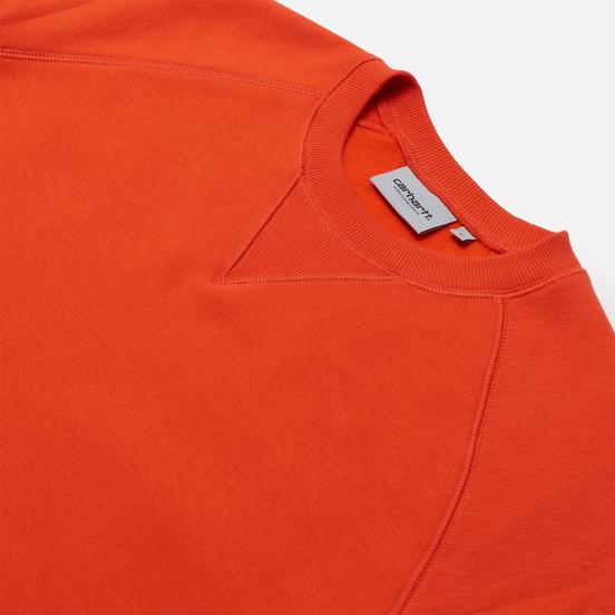 Мужская толстовка Carhartt WIP Chase 13 Oz Safety Orange/Gold