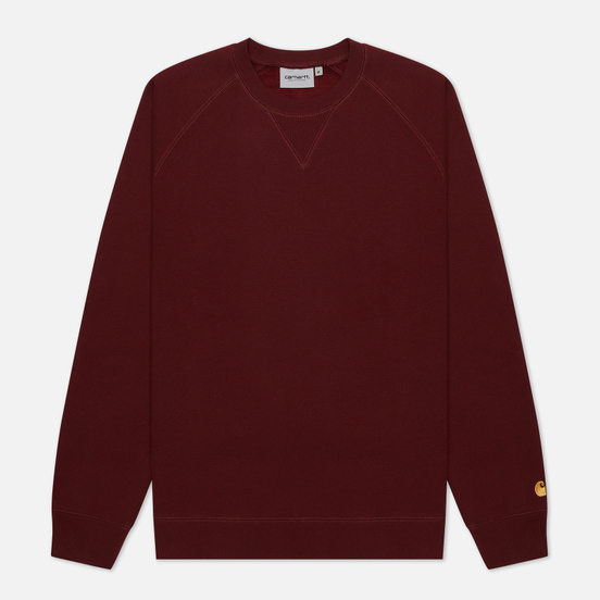 Мужская толстовка Carhartt WIP Chase 13 Oz Bordeaux/Gold