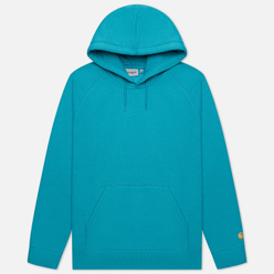 Мужская толстовка Carhartt WIP Chase 13 Oz Hooded Frosted Turquoise/Gold