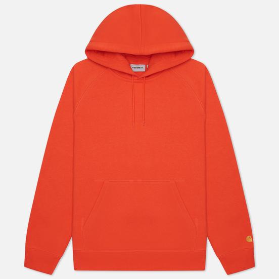Мужская толстовка Carhartt WIP Chase 13 Oz Hooded Safety Orange/Gold