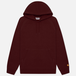 Мужская толстовка Carhartt WIP Chase 13 Oz Hooded Bordeaux/Gold