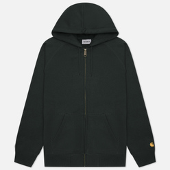 Мужская толстовка Carhartt WIP Chase 13 Oz Full-Zip Hoodie Dark Teal/Gold