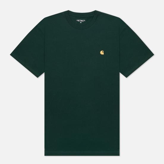 Мужская футболка Carhartt WIP S/S Chase Bottle Green/Gold