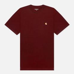 Мужская футболка Carhartt WIP S/S Chase Bordeaux/Gold