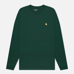Мужской лонгслив Carhartt WIP L/S Chase Bottle Green/Gold