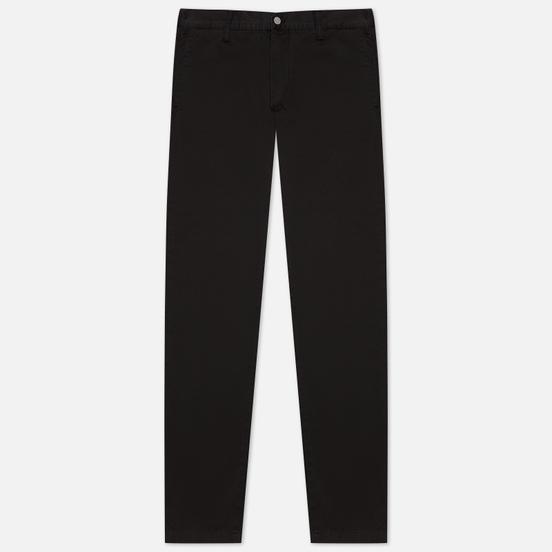 Мужские брюки Edwin 45 Chino PFD Compact Twill 9 Oz Black Garment Dyed