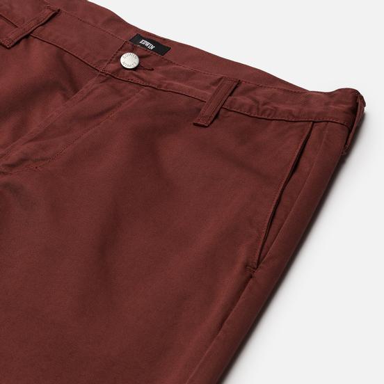 Мужские брюки Edwin 45 Chino PFD Compact Twill 9 Oz Root Beer Garment Dyed