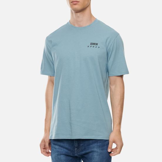 Мужская футболка Edwin Edwin Logo Chest Arona Garment Washed
