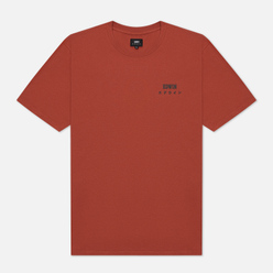 Мужская футболка Edwin Edwin Logo Chest Auburn Garment Washed