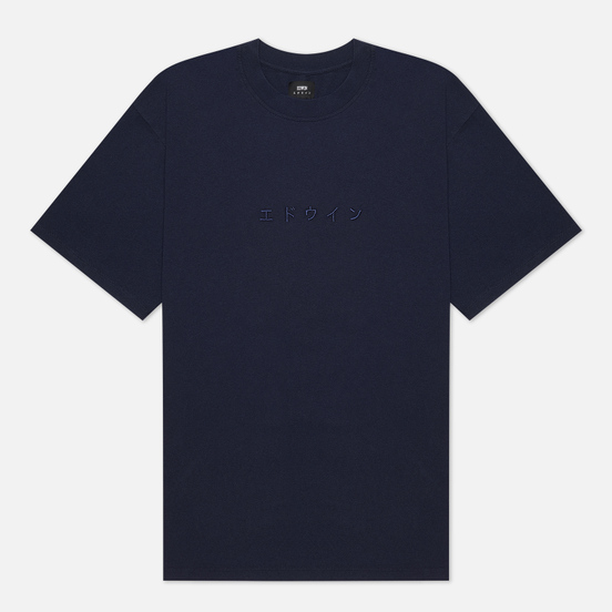 Мужская футболка Edwin Katakana Embroidery Navy Blazer