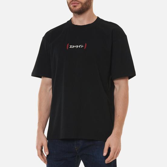 Мужская футболка Edwin Aurora Black Garment Washed