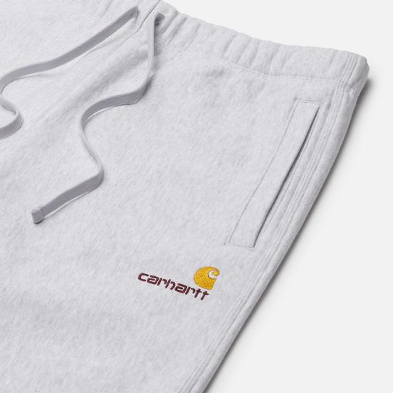 Мужские брюки Carhartt WIP American Script 12.3 Oz Ash Heather
