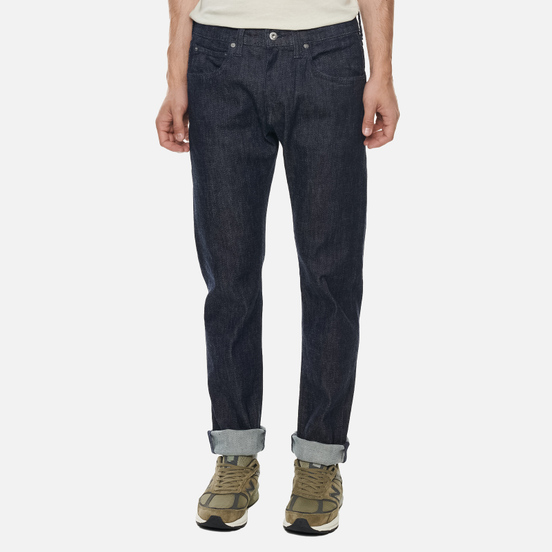Мужские джинсы Edwin ED-55 CS Yuuki Blue Denim 12.8 Oz Blue Rinsed