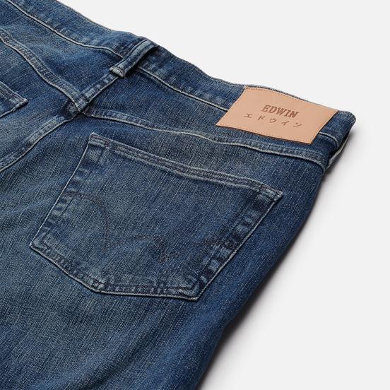 Мужские джинсы Edwin ED-55 CS Yuuki Blue Denim 12.8 Oz Blue Takeo Wash
